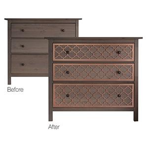 O'verlays: Decorative Furniture Panels - DIY IKEA Furniture