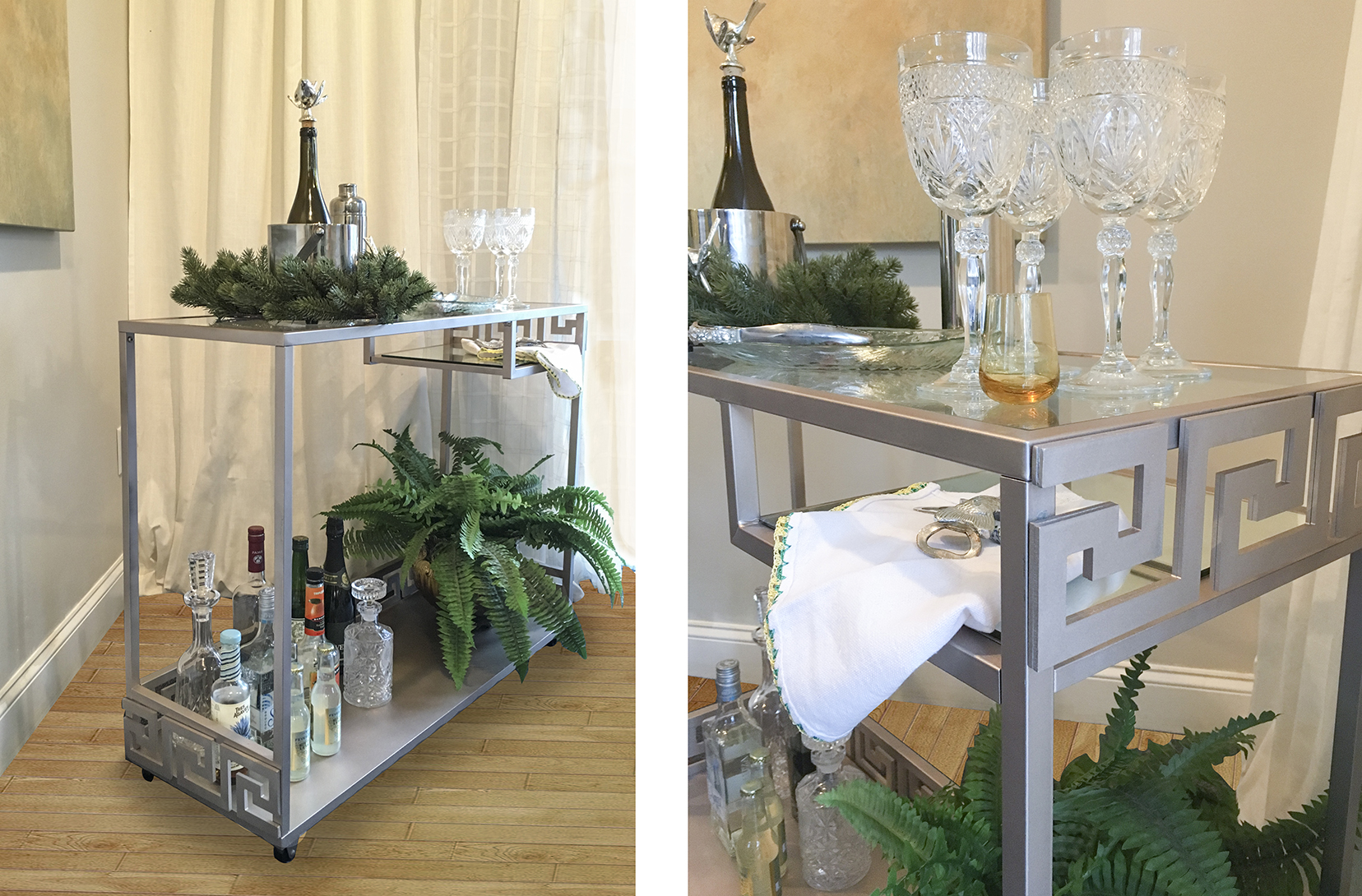 Diy Bar Cart Customize Ikea Vittsjo Desk O Verlays