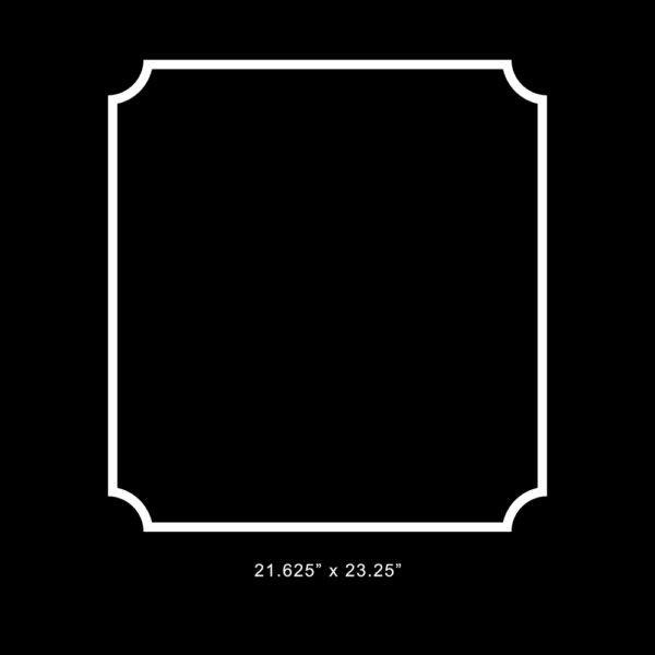 "O'verlays Anne 21.625"" x 23.25"" panel"