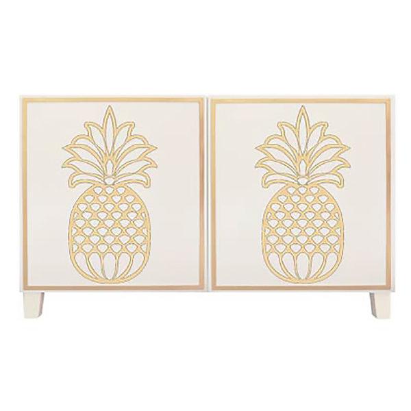 O'verlays Pineapple Kit Ikea Besta 2 door console unit