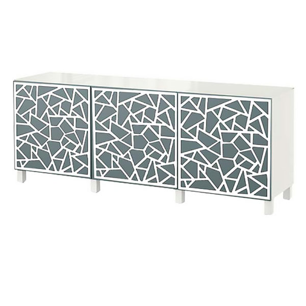 O'verlays Danika Kit Ikea Besta 3 door console unit