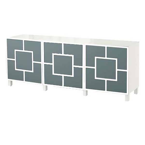 O'verlays Harper Kit Ikea Besta 3 door console unit