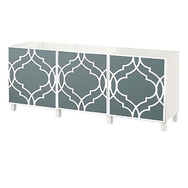 O'verlays Khloe Kit Ikea Besta 3 door console unit