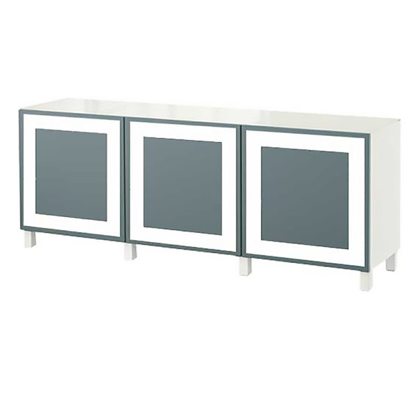 BC3D-RX2224T3-3 overlays Rex Thick half inch reveal -3- wide- Kit ikea besta 3 door console unit