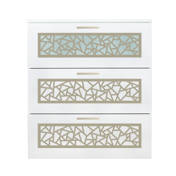 O'verlays Danika Kit for Ikea Brimnes 3 Drawer Dresser