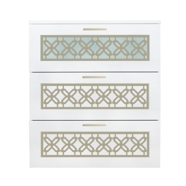 O'verlays Gigi Kit for Ikea Brimnes 3 Drawer Dresser