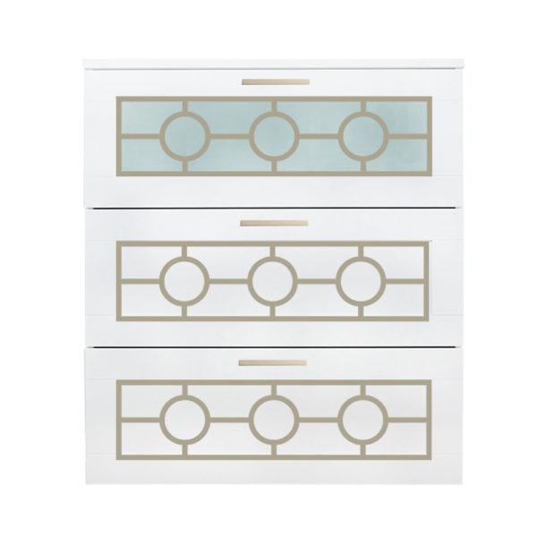 O'verlays Grace Kit for Ikea Brimnes 3 Drawer Dresser