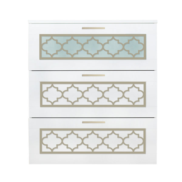 O'verlays Jasmine Kit for Ikea Brimnes 3 Drawer Dresser