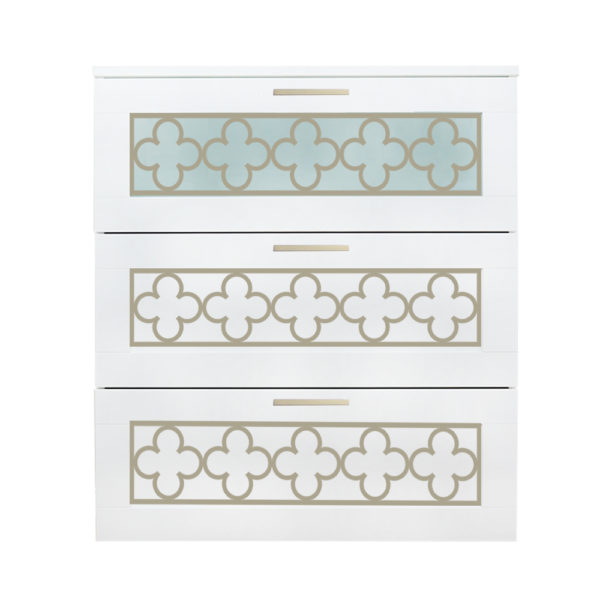 O'verlays Quatrefoil Kit for Ikea Brimnes 3 Drawer Dresser