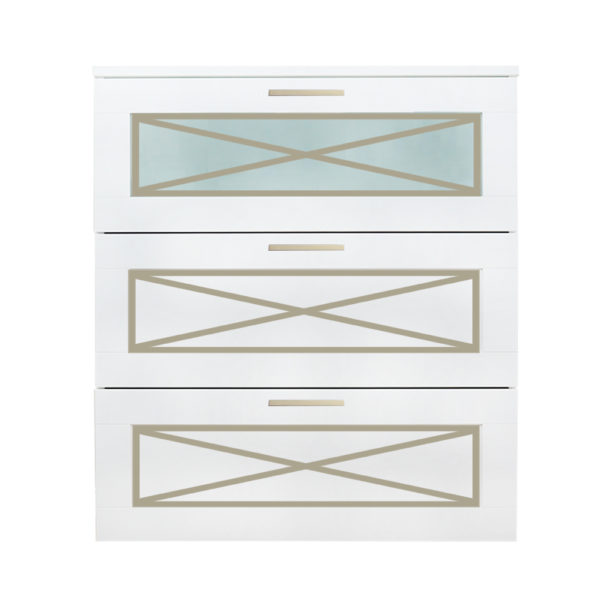 O'verlays Xandra Kit for Ikea Brimnes 3 Drawer Dresser