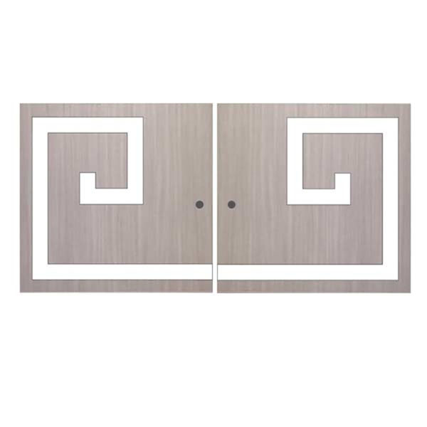 O'verlays Greek Key Double Kit for Ikea Kallax or Expedit Door