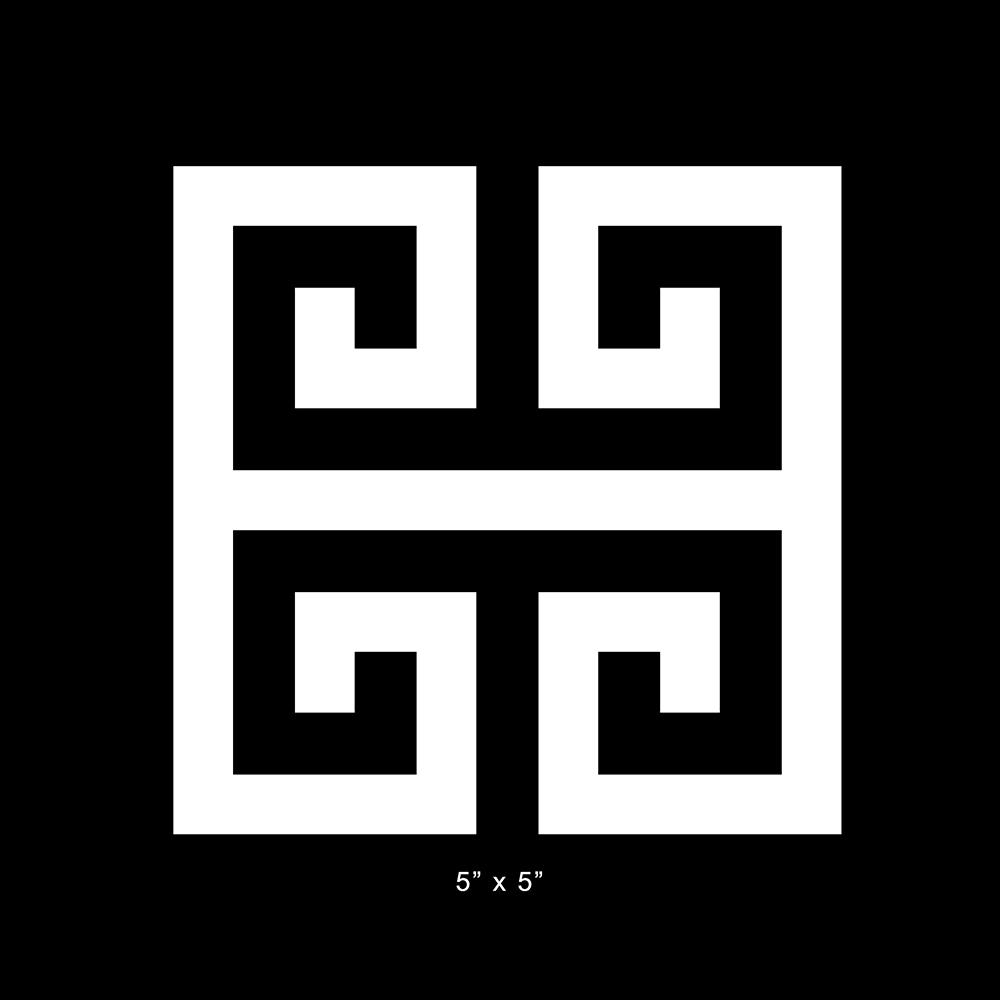 Overlays Greek Key 5 X 5 Square Panel