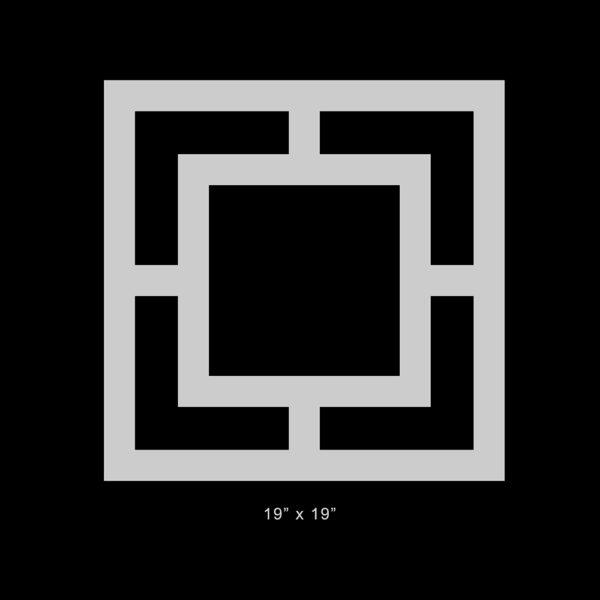 "O'verlays Harper Thick 19"" x 19"" Square panel"