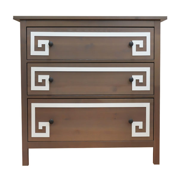 O'verlays Greek Key Double Ikea hemnes dresser