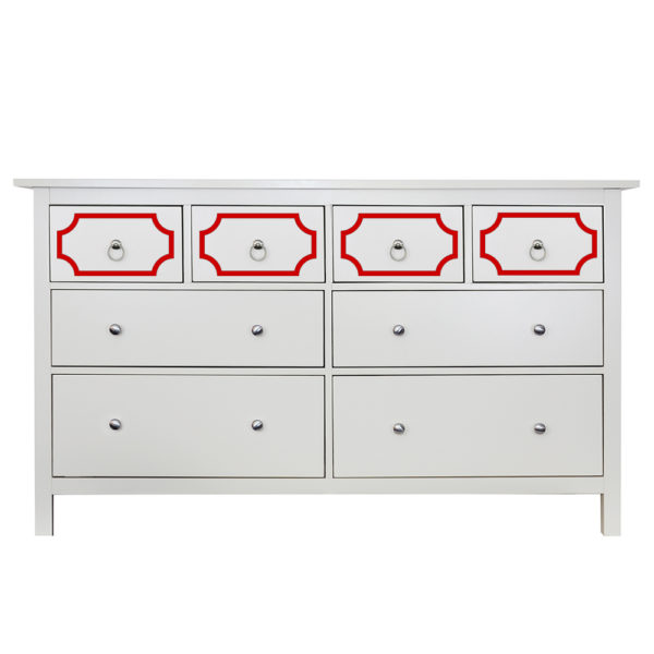 O'verlays Anne Kit for Ikea Hemnes 8 Drawer Dresser Top Drawers Only