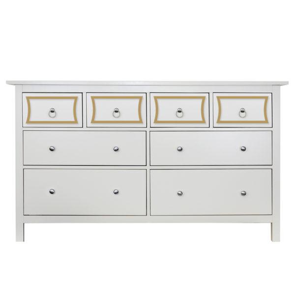O'verlays Charles Kit for Ikea Hemnes 8 Drawer Dresser Top Drawers Only