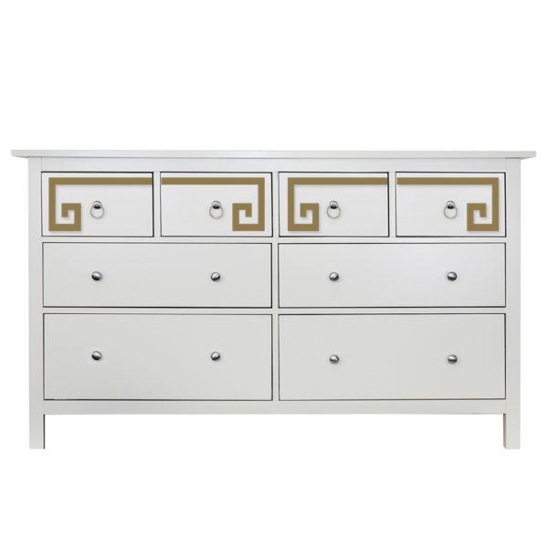 O'verlays Greek Key Double Kit Ikea Hemnes 8 drawer dresser top drawer