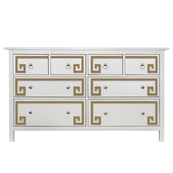 O'verlays Greek Key Double Kit for Ikea Hemnes 8 Drawer Dresser