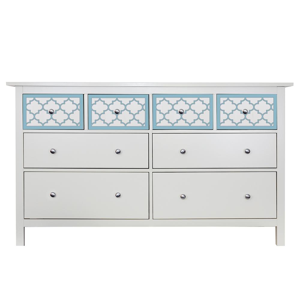 overlays jasmine kit for the ikea malm 3 drawer dresser in. Black Bedroom Furniture Sets. Home Design Ideas