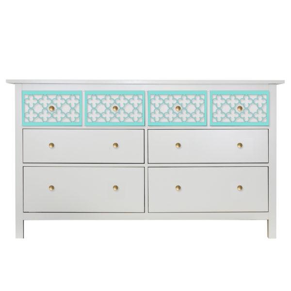 O'verlays Quatrefoil Multi Ikea Hemnes 8 Drawer Dresser Top Drawers