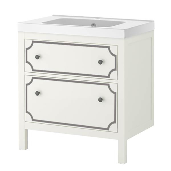 O'verlays Anne Kit for Ikea Sink Cabinet 2 Drawer