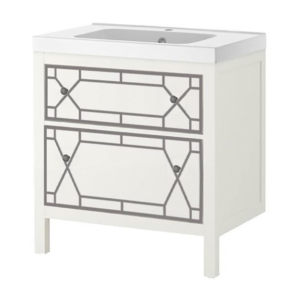 "O'verlays Chip Kit for Ikea 31"" Sink Cabinet 2 Drawer"