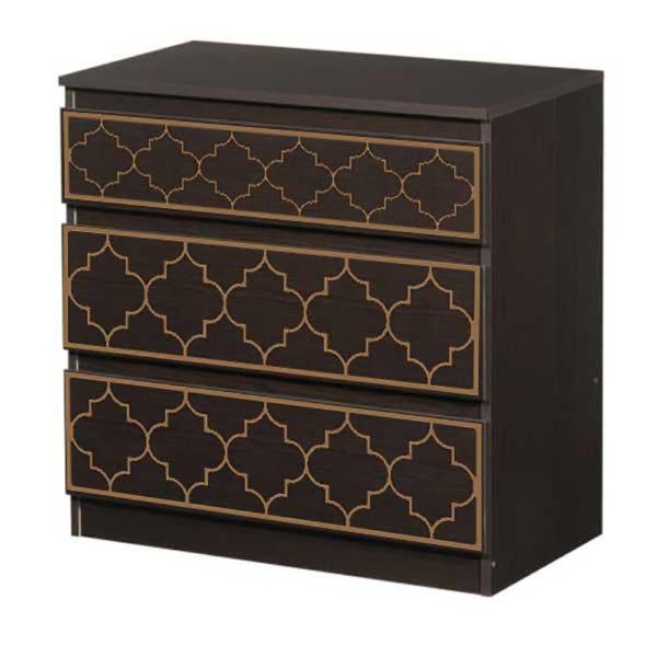 O'verlays Jasmine Kit for Ikea Kullen 3 Drawer Chest