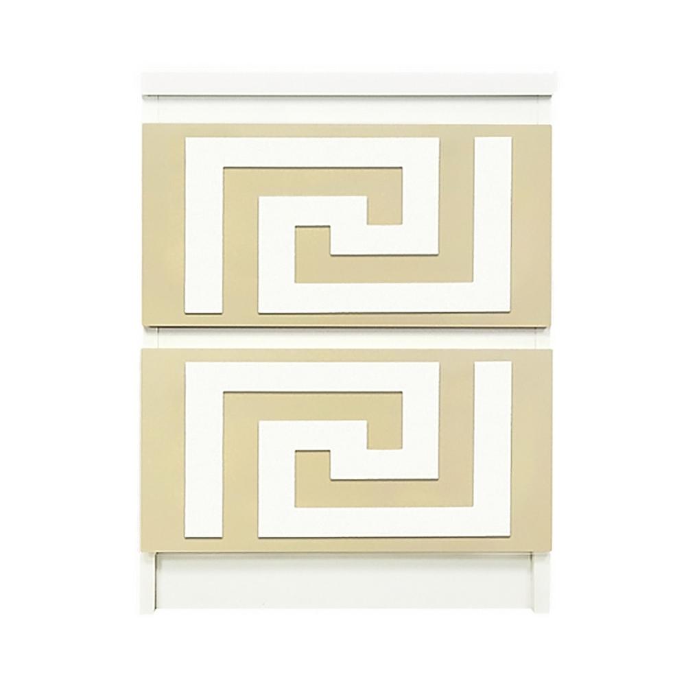 Attirant Overlays Greek Key Kit Ikea Malm 2 Drawer