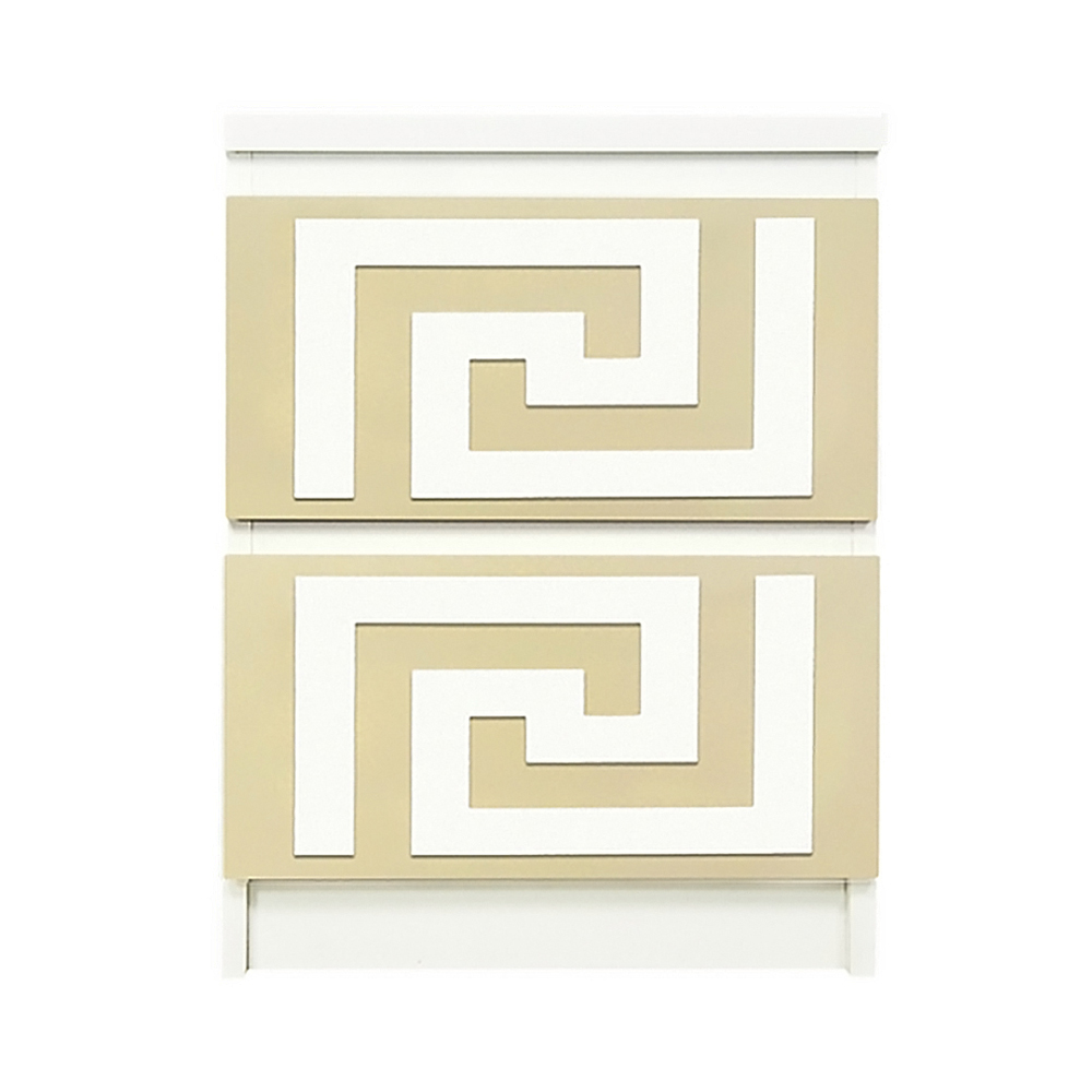 Superieur Overlays Greek Key Kit Ikea Malm 2 Drawer