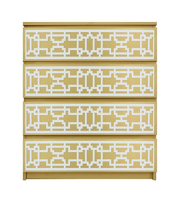 overlays caci kit for malm 4 drawer dresser