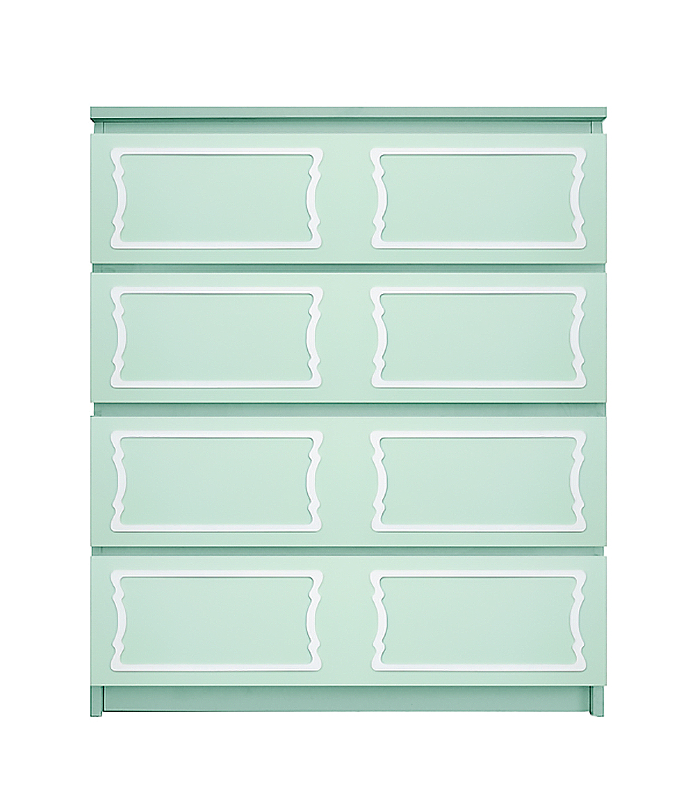 Overlays Dee Dee For Kit For Ikea Malm 4 Drawer Chest