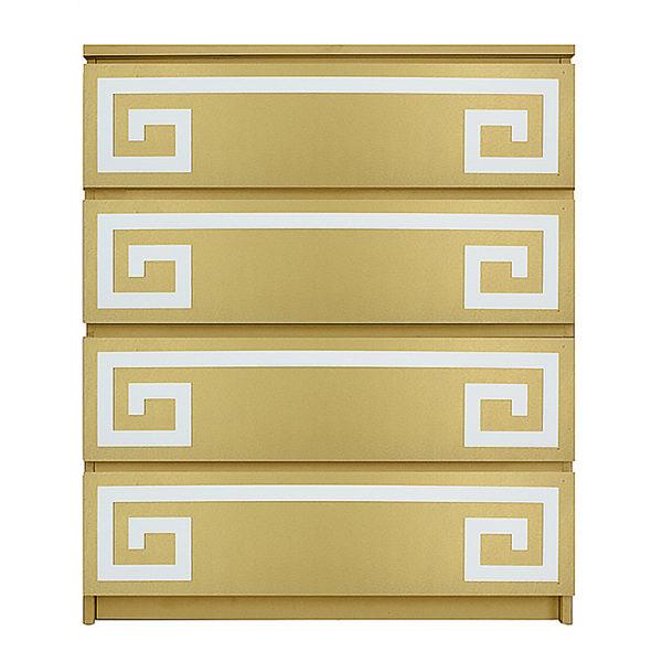 overlays Greek Key Double Kit Ikea Malm 4 drawer
