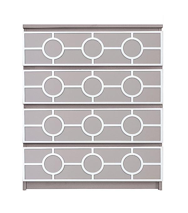 overlays Grace Full Kit Ikea Malm 4 drawer