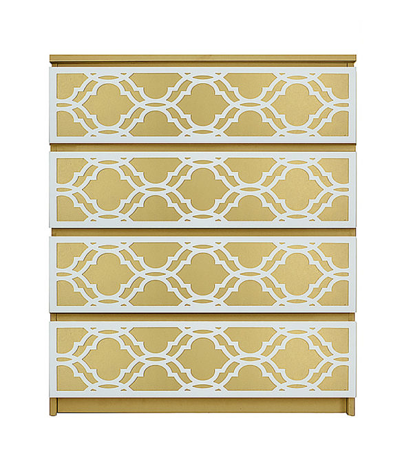 overlays Khloe Kit Ikea Malm 4 drawer