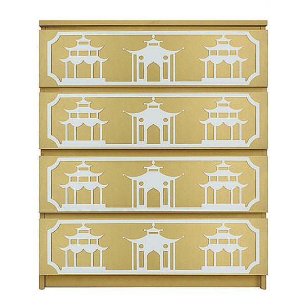 O'verlays Pagoda Kit for Ikea Malm 4 Drawer Chest