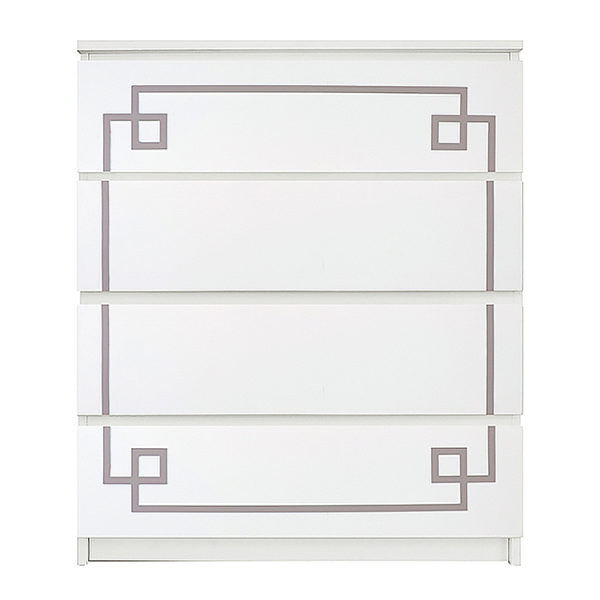 O'verlays Pippa Malm #1 Kit for Ikea Malm 4 Drawer Chest
