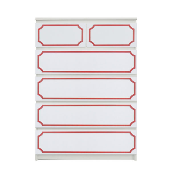 "O'verlays Anne 7"" x 30"" Kit for Ikea Malm 6 drawer chest"
