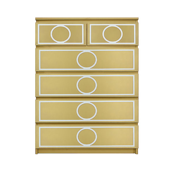 O'verlays Gracie Kit for Ikea Malm 6 drawer chest