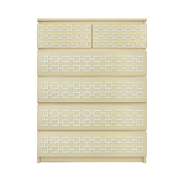 O'verlays Harper Kit Ikea Malm 6 drawer chest