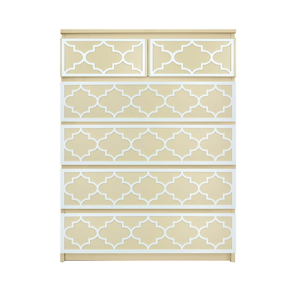 O'verlays Jasmine Kit for Ikea Malm 6 drawer chest