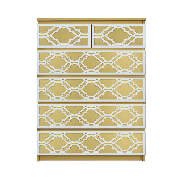 O'verlays Khloe Kit for Ikea Malm 6 drawer chest