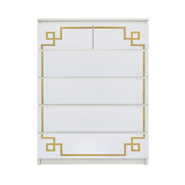 O'verlays Pippa Malm #3 Kit for Ikea Malm 6 drawer chest