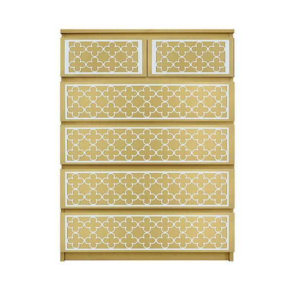 O'verlays Quatrefoil Kit for Ikea Malm 6 drawer chest