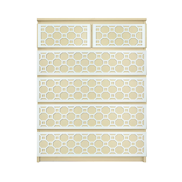 M6C-RB-6, overlays ruby kit, ikea malm 6 drawer chest