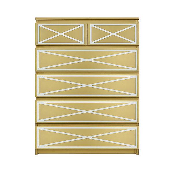 O'verlays Xandra Kit for Ikea Malm 6 drawer chest