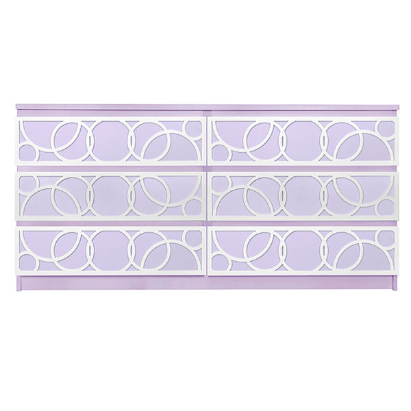 Overlays Bubbles Kit Ikea Malm 6 drawer long dresser