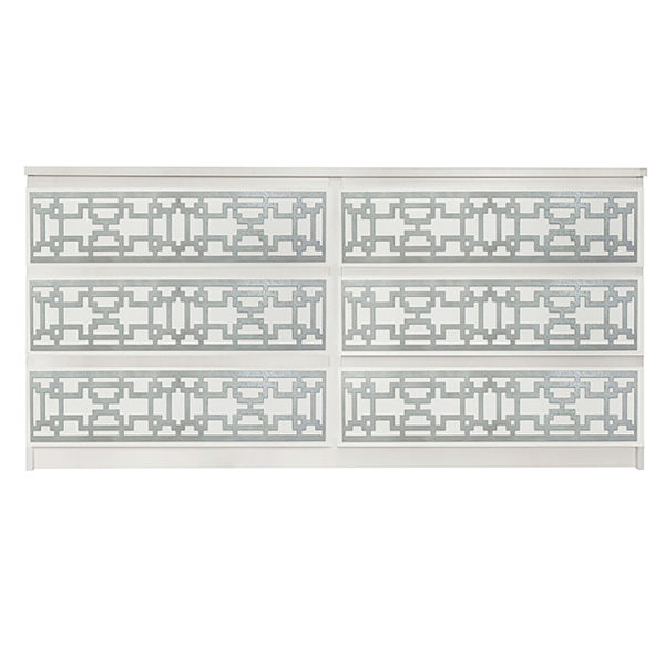 Overlays Caci kit for ikea malm 6 drawer long dresser