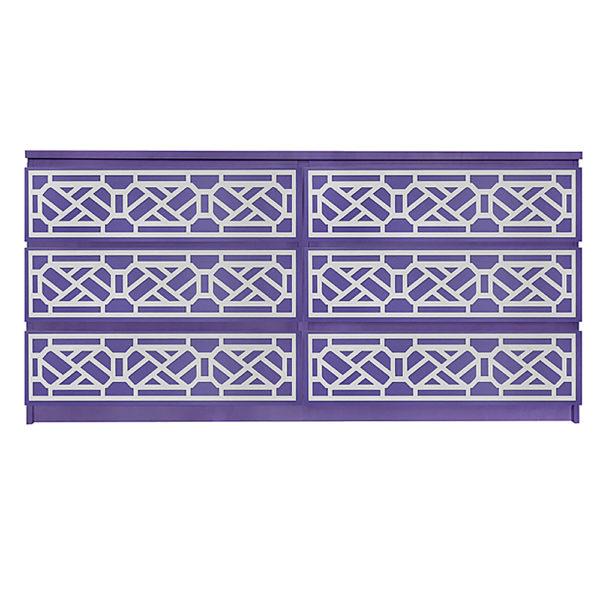 Overlays Cheryle kit for ikea malm 6 drawer long dresser