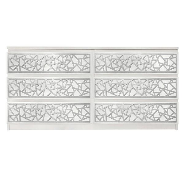 Overlays Danika kit for ikea malm 6 drawer long dresser