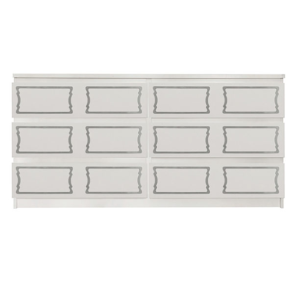 Overlays Dee Dee kit for ikea malm 6 drawer long dresser